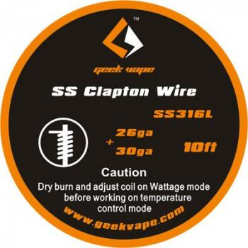 GeekVape Clapton SS316 Wire (0.41mm + 0.28mm) 3m Rolle