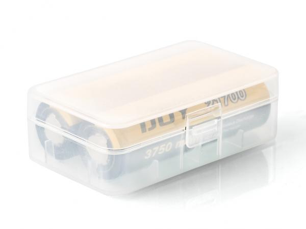 Batteriecase D4 für 2 x 20700/21700, Transparent